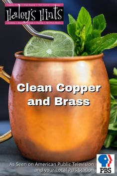 Clean copper and brass easily and naturally with this great hack. No harsh chemicals, no hard scrubbing, all you need is lemon, a little salt, a soft cloth and a little elbow grease to have it sparkling like new in seconds.