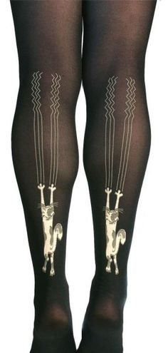 Adorn your legs with tights that will bring out your inner kitten, or at least your inner scratch post.