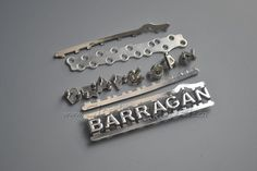metal label,shinny silver,letter shape,with plate