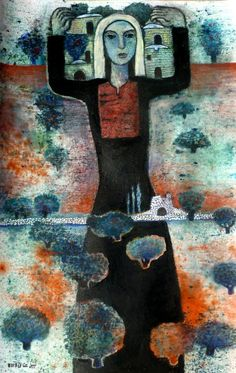 2013 dyes on paper, Nabil Anani Naive, What Is Contemporary Art, Palestine Art, Middle Eastern Art, Painter Artist, Community Art, Art Google, Painting Inspiration, Altered Art