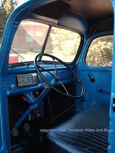 Finished interior of our body-off complete restoration of a 1944 Ford Dump truck