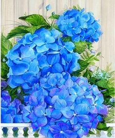 Hydrangea Heaven by Janet Stever ~ floral beauty Hortensia Hydrangea, Blue Hydrangea, Art Floral, Flowers Nature, Beautiful Flowers, Watercolor Flowers, Watercolor Art, Hydrangea Painting, Rhinestone Crafts