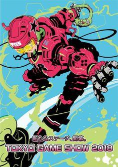 Tokyo Game Show 2018 main visual unveiled - Gematsu Character Design Animation, Female Character Design, Character Art, Manga Illustration, Graphic Design Illustration, Pretty Art, Cute Art, Japanese Art Modern, Modern Art