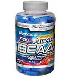 100 cápsulas de AMINO BCAA'S 500mg. Aminoácido, energético, anticatabólico, masa muscular, recuperador de tejidos y anabólico Los BCAAs son aminoácidos fundamentales para los entrenamientos intensos o prolongados ya que son esenciales en la formación de masa muscular y también son energéticos.