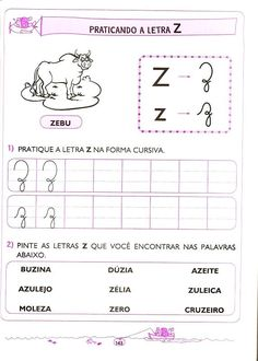 língua portuguesa - 5 e 6 anos (139) Map, Reading Activities, Toddler Learning Activities, Kid Activities, Abc Centers, Location Map, Maps