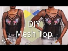 DIY MESH TOP (Beginner Friendly) - YouTube