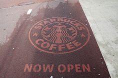 Moss Graffiti, Reverse Graffiti, Green Marketing, Real Coffee, Coffee Culture, Starbucks, Street Art, Natural, Robin