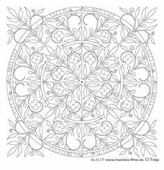Mandala 224.Mandala. Mandala para pintar flores. Mandala for painting. Mandala of coloring floral