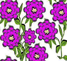 Purple Flowers Everywhere by Maureen Zaharie