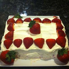 All organic strawberry short cake