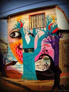 """by Smides in Puente Alto, Chile - """"Sembremos, Juguemos en la plaza"""""""