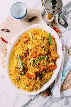 Singapore Rice Noodles, Spicy Singapore Noodles Recipe, Singapore Chow Mei Fun Recipe, Mei Fun Noodles, Mai Fun Noodles Recipe, Thai Noodles, Asian Noodles, Asian Recipes, Cooking