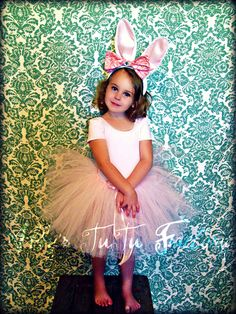 Super sweet little bunny tutu costume Made by Abby's TuTu Factory