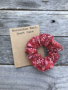 Handmade by Me 💖 Red Scrunchie, Velvet Scrunchie, Hair Scrunchies, Hot Dog Bar, Hair Supplies, Sunflower Pattern, Red Bandana, Head Accessories, Pink Velvet