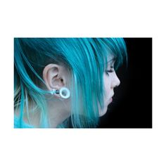 Teal Hair. ❤ liked on Polyvore featuring accessories, hair accessories, people, hair, girls, pictures, site models and teal hair accessories