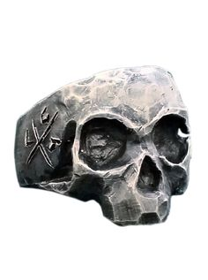 """Gratfully Dead Skull"" Ring by Lor G Jewellery"