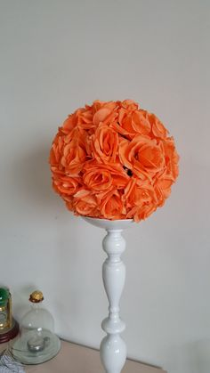 Sale! Wedding Metallic Floral Stand /Pomander Stand/Kissing ball Centerpieces…