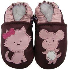 shoeszoo carozoo new soft soled leather infant baby shoes pirate fuchsia 0-6m