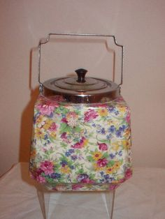 Midwinter Chintz Biscuit Barrel Springtime Brama | eBay  I know we use to have one like this when I was growing up ....memories wow