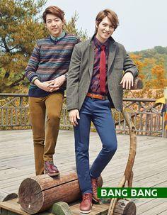 JUNG SHIN AND JONG HYUN FOR BANG BANG F/W 2013 CAMPAIGN ♡ #CNBLUE
