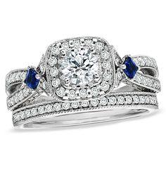 Vera Wang #engagement #ring and #wedding #band