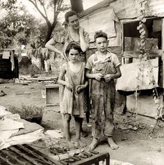 """""""Shacktown"""" Elm Grove, Oklahoma. Couldn't imagine the lives of the dust bowl and depression"""