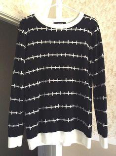 Forever 21 Pastel Goth Punk Grunge Black Stitches Sweater #FOREVER21 #Crewneck