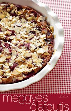 Dolce Vita: Meggyes-mandulás villámlepény Cereal, Oatmeal, Breakfast, Food, The Oatmeal, Morning Coffee, Rolled Oats, Eten, Meals