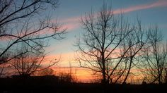 Sunset, 1rst December