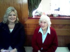 Our 90 + sister Joan and Michelle