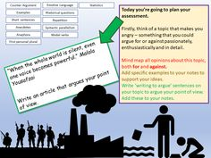 In order to help students write writing to argue articles , this planning lessons helps students to think about their ideas, their structure, their vocabul. Aqa English Language, Rhetorical Question, Assessment, Teaching Resources, Sentences, Classroom Ideas, Students, Make It Yourself, Writing