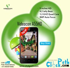 Videocon A55HD Android Smartphone at Best Price...! Buy Now Visit  Clickpeth.com Or Call on   +91 996-997-998-5 Cash on Delivery,Free Home  Delivery Available ... 8730ea0e06