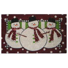 Imports Decor Three Snow Men Doormat