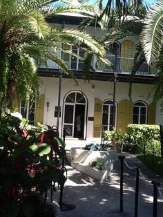 The Hemmingway House in the florida keys need to visit someday..