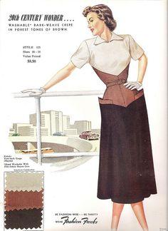 Fashion Frocks Style Card 1950