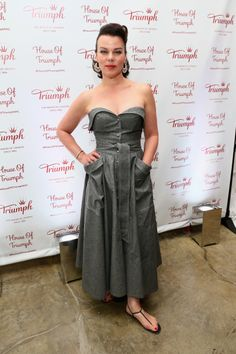 Debi Mazar attends Triumph Lingerie debut of the Magic Wire Bra at House of Triumph on August 28, 2014 in New York City