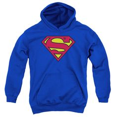 SUPERMAN/CLASSIC LOGO Youth Hoodie