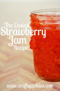 Homemade strawberry jam! SO EASY!