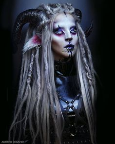 THE FAUN WITCH // Another picture of my last make-up transformation taken . - THE FAUN WITCH // Another picture of my last make-up transformation t. Sfx Makeup, Cosplay Makeup, Costume Makeup, Makeup Art, Faun Makeup, Faun Costume, Demon Makeup, Makeup Drawing, Succubus Costume