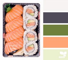 Cool concept. I love the light green. It'd be good for my room. :)    sushi hues #designseeds