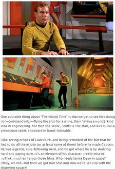 "I didn't notice, but still kinda cool. My favorite part of ""The Naked Time"" was Leonard Nimoy being amazing. Star Wars, Star Trek Tos, My Favorite Part, Favorite Tv Shows, Stark Trek, Enterprise Ncc 1701, Star Trek Characters, Star Trek Beyond, Star Trek Original"