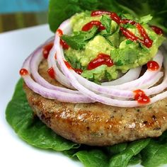 The juiciest turkey burgers ever, made right in your oven! Low carb, low calorie and clean eating approved. These are delicious!