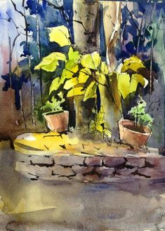 Basic Drawing, Watercolor Landscape Paintings, Watercolors, Colour, Canvas, Drawings, Art, Flower Watercolor, Landscape Photography