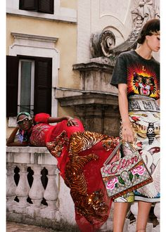 Wild Days and Nights in Roma: A band of artists and colorful characters collide in the streets of Rome, feasting on hamburgers dressed in evening gowns, hanging out with tigers and lions and partying in a marble fountain—presenting the surreal and compelling Spring Summer 2017 campaign.