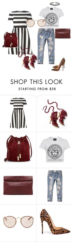 """""""Coffee over Wine"""" by stylestacik ❤ liked on Polyvore featuring Valentino, Derek Lam, Vince Camuto, Marie Turnor, Abercrombie & Fitch, Ray-Ban and Christian Louboutin"""