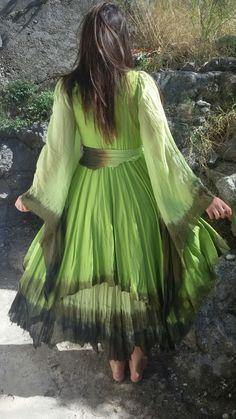 by dklea Hippie Dresses, Boho Dress, Fairy Wedding Dress, Wedding Dresses, Deep Forest, Forest Fairy, Hippie Boho, Pixie, Style