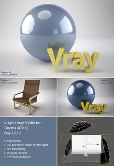 Buy V-ray Studio Setup + PDF Help by tdubic_DISABLED on This is a studio render setup for Cinema and V-ray. This studio have 4 . Tutorial Sites, 3d Tutorial, Digital Art Tutorial, Design Tutorials, Art Tutorials, After Effects, Cinema 4d Tutorial, Cd Art, Maxon Cinema 4d