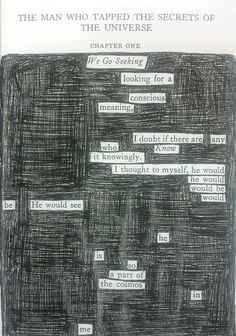 Found poetry - Making poems from words on the page. Found Poem, Forms Of Literature, Poetry Journal, Teaching Poetry, Pomes, Blackout Poetry, Secrets Of The Universe, Poetry Art, Kids Writing