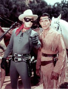 Although there were several actors who played The Lone Ranger and Tonto, the most reconizable are Clayton Moore and Jay Silverheels.