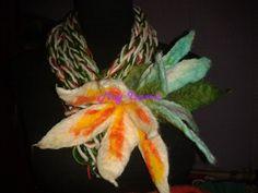 Collar Bufanda con flores de fieltro